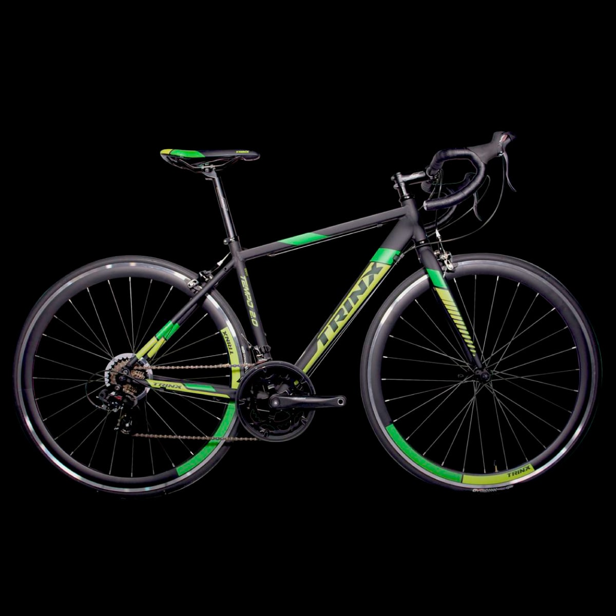 Bike Trinx Tempo 2.0 2020 14v Shimano Preto Verde