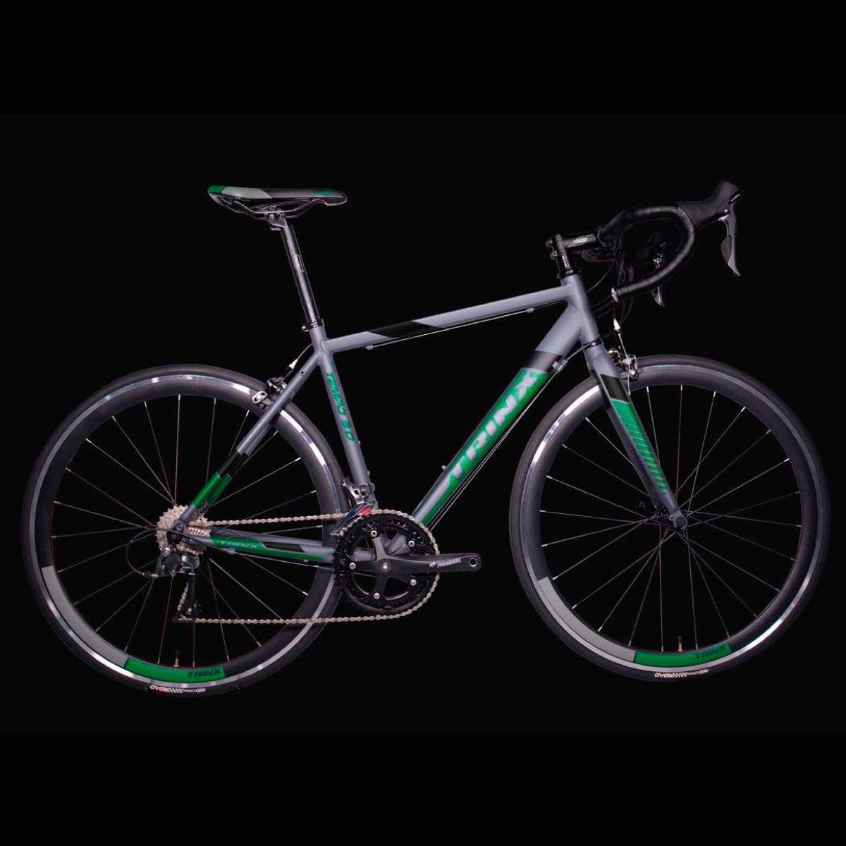 Bike Trinx Tempo 3.0 2020 16v Shimano Preto Verde