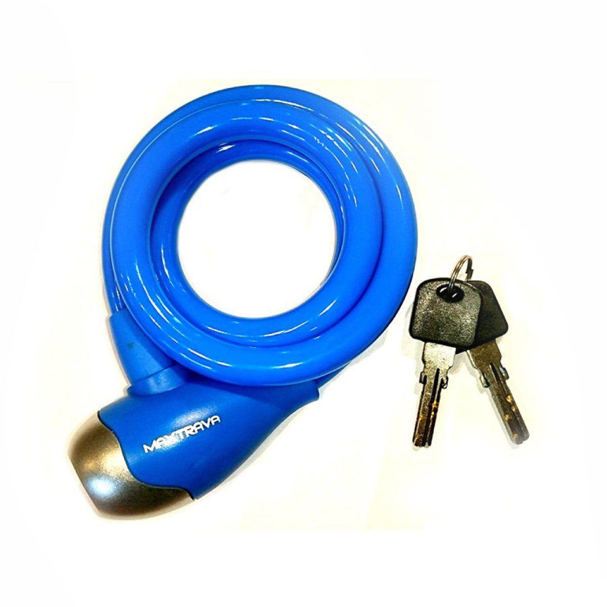 Cadeado Max Trava com Chave Grosso Azul