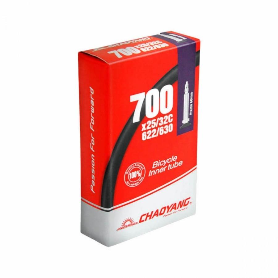 Camara de Ar Chaoyang 700x25-32 Valvula Presta 60mm