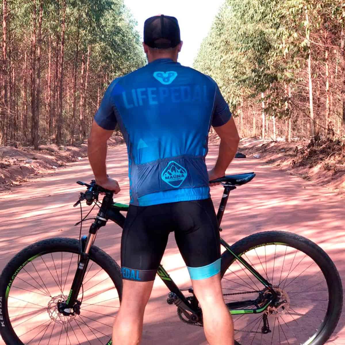 Camisa Life Pedal Masculina Azul