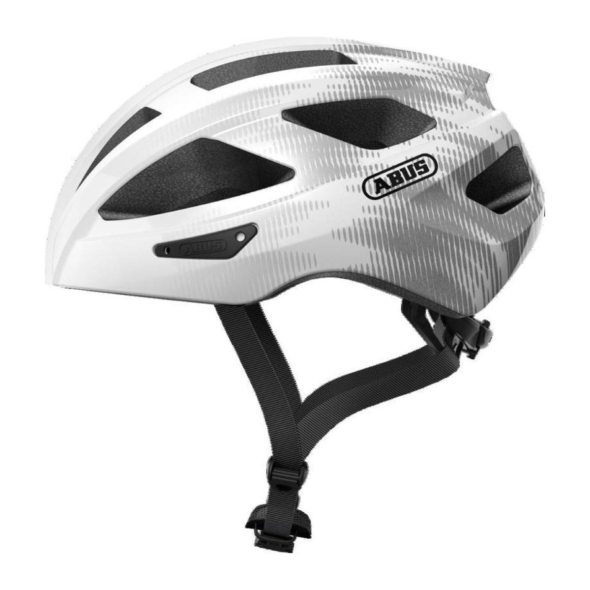 Capacete Ciclismo ABUS Macator Branco E Prata