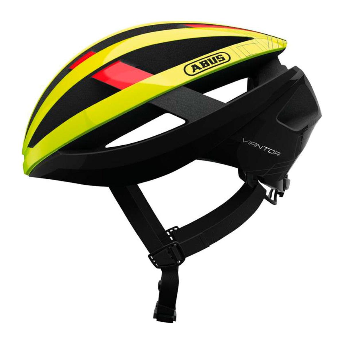 Capacete Ciclismo ABUS Viantor Amarelo E Preto