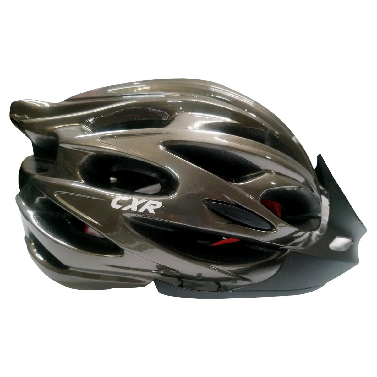 Capacete Ciclismo CXR Cinza Com Luz