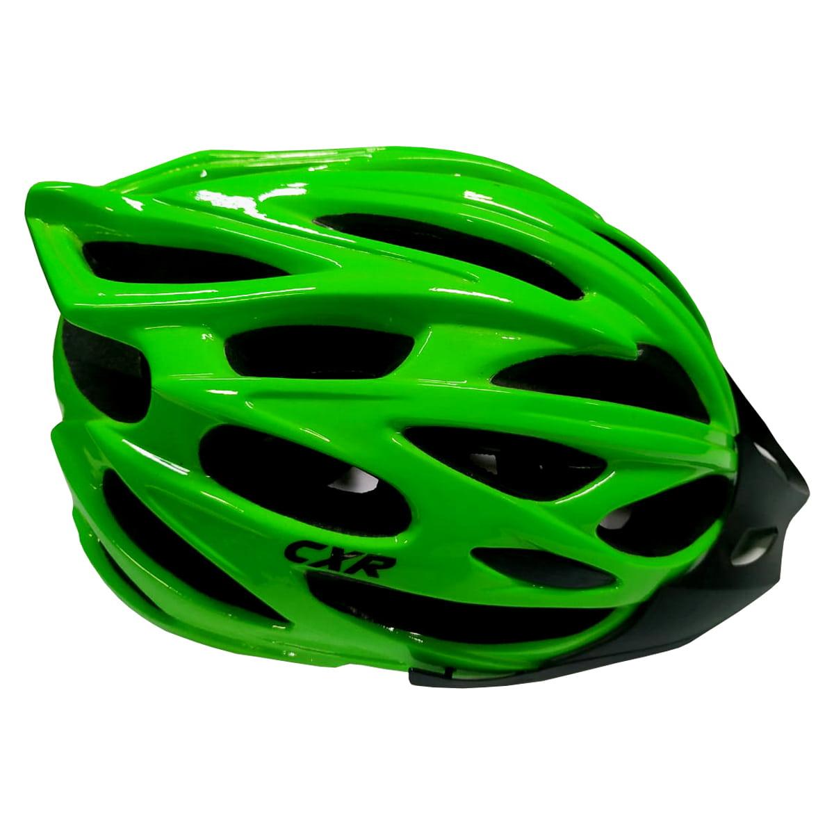 Capacete Ciclismo CXR Verde Com Luz