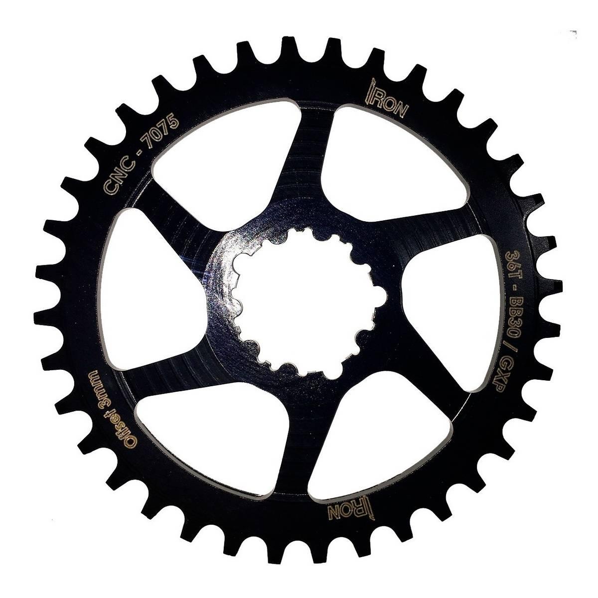 Coroa Iron Direct Bb30 Gxp 36t Offset 3mm Para  Sram