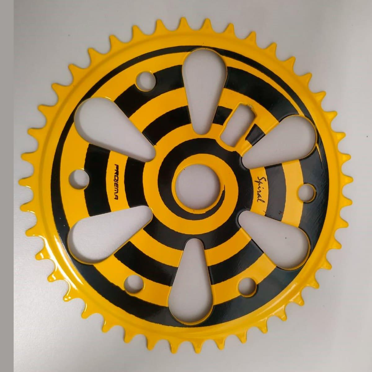 Coroa Projema 43D Spiral Preto e Amarelo