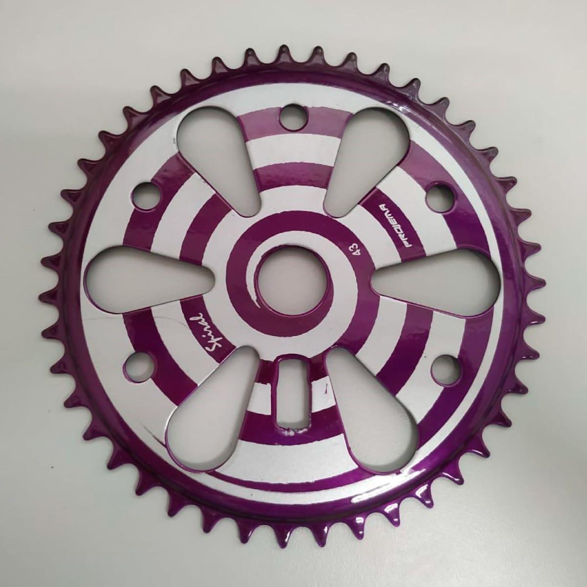 Coroa Projema 43D Spiral Preto e Lilas