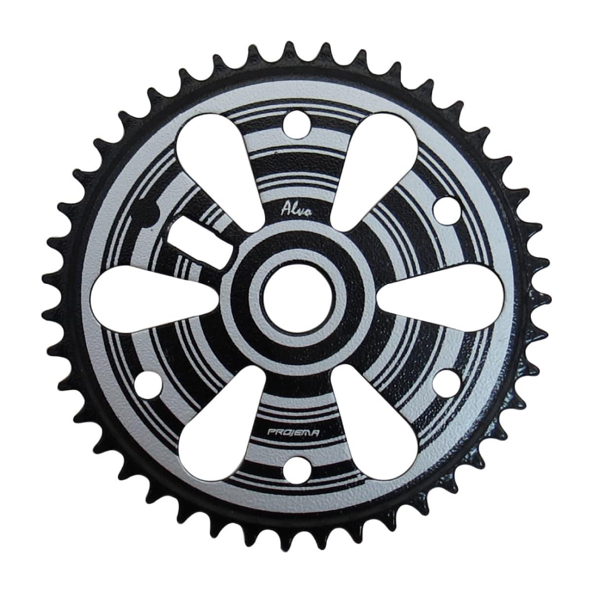 Coroa Projema 43D Spiral Preto e Prata