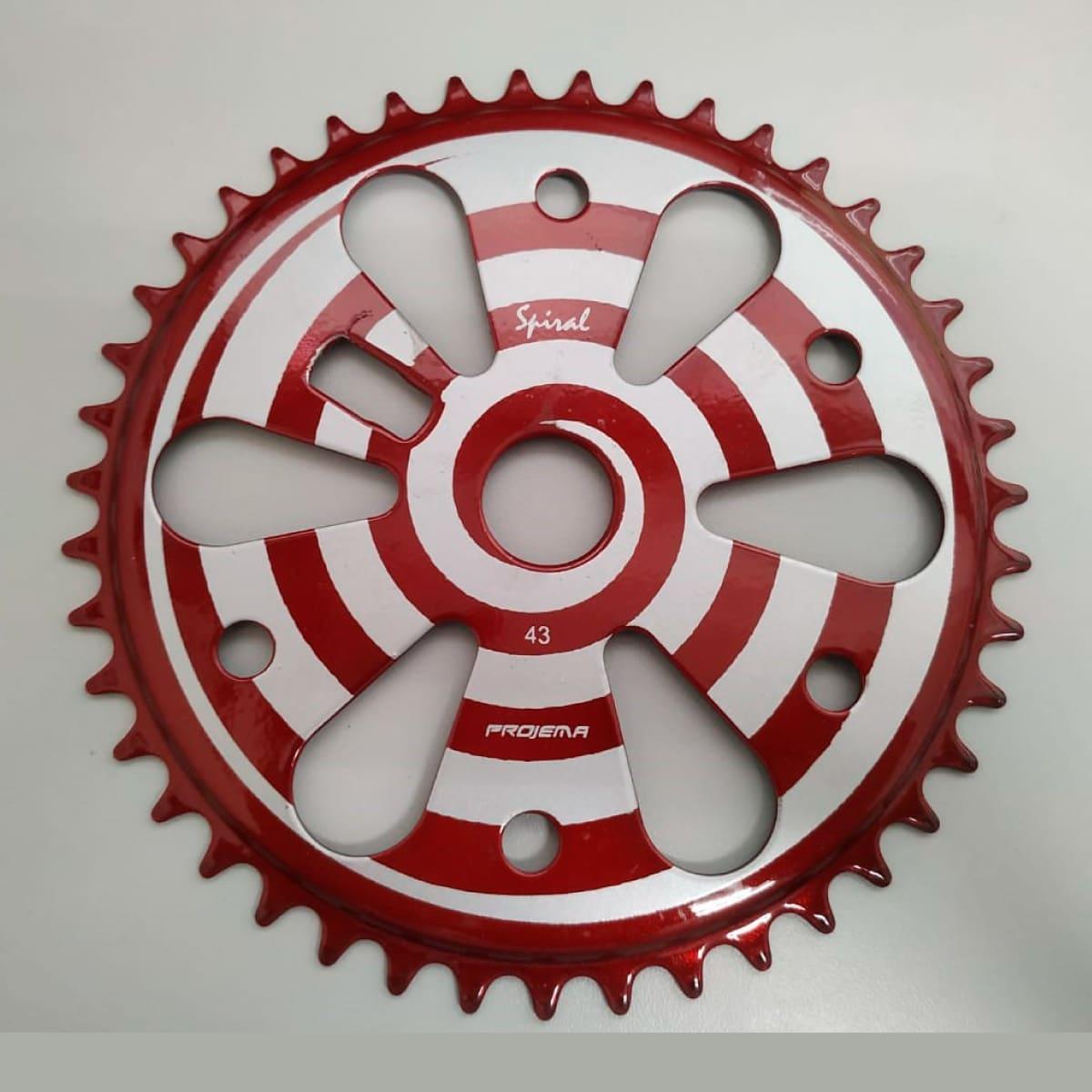 Coroa Projema 43D Spiral Preto e Vermelho
