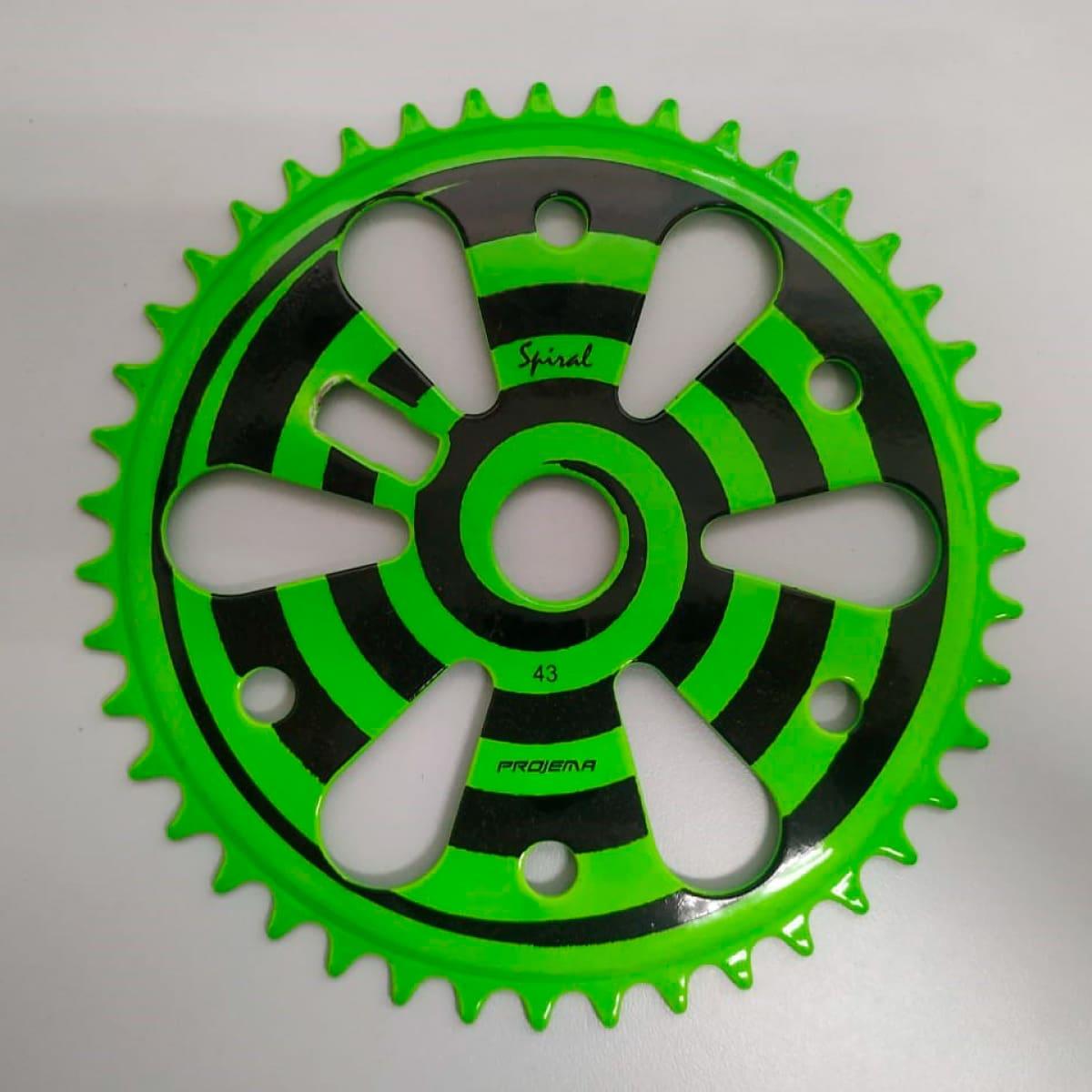 Coroa Projema 43D Spiral Verde Neon