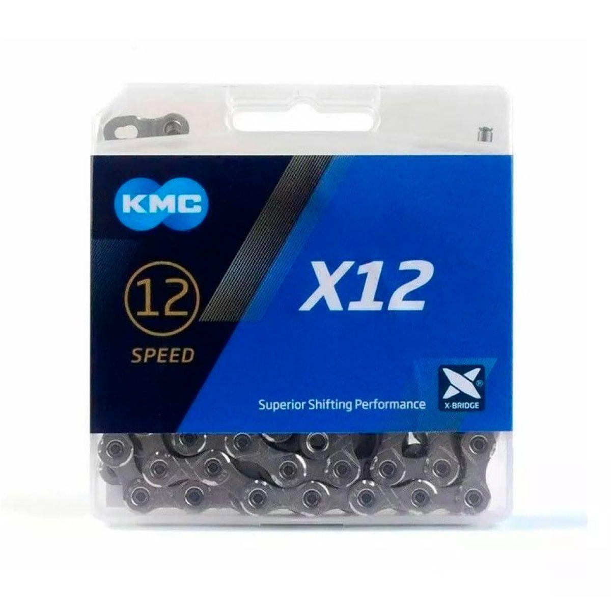 Corrente KMC X12 12v Prata 126L