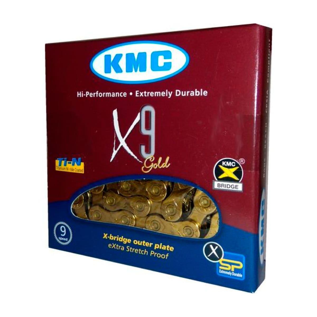 Corrente KMC X9 9V Dourada