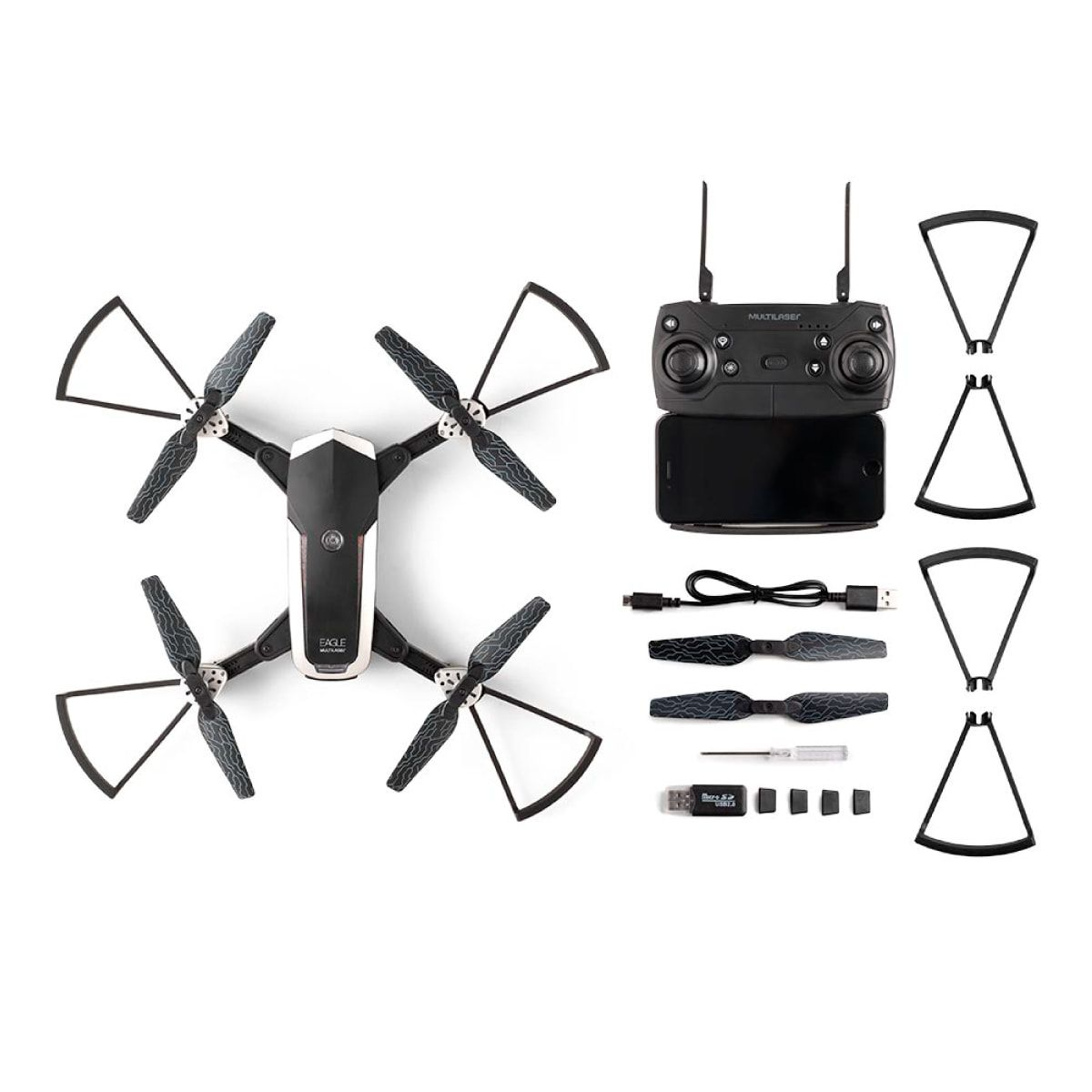 Drone Atrio Eagle HD FPV Alcance 80 metros