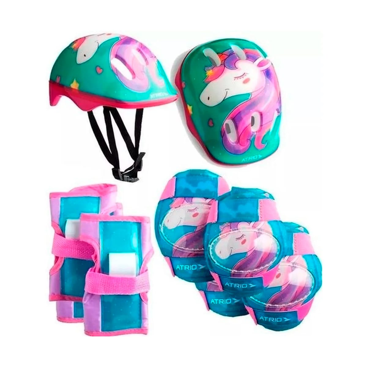 Kit Proteção Infantil Atrio Com Capacete