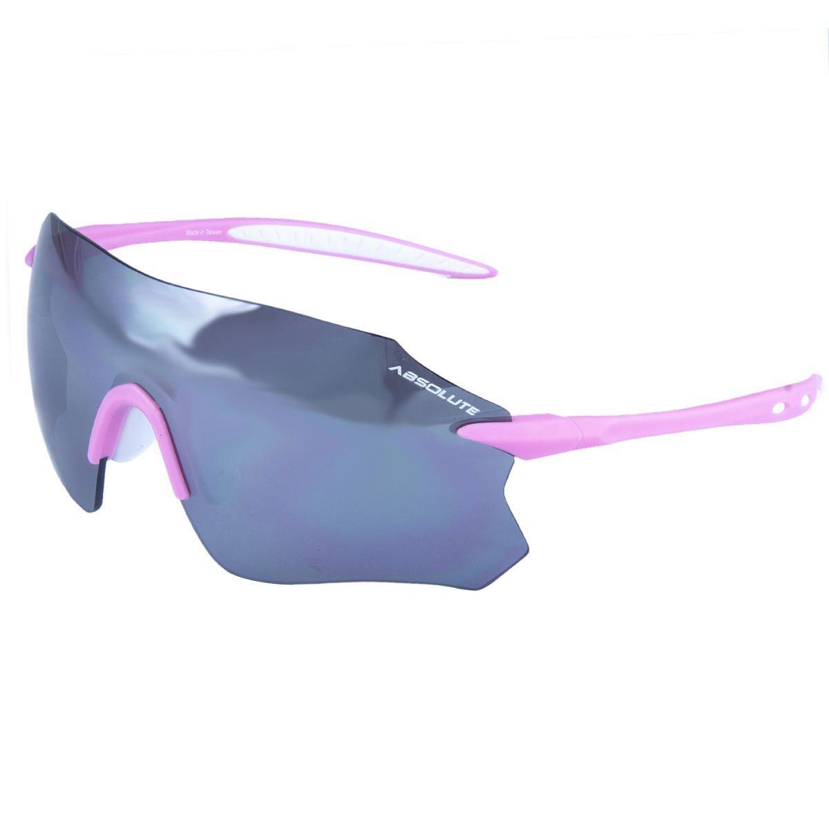 Oculos Ciclismo Absolute Prime SL Branco Rosa Lente Polarizado