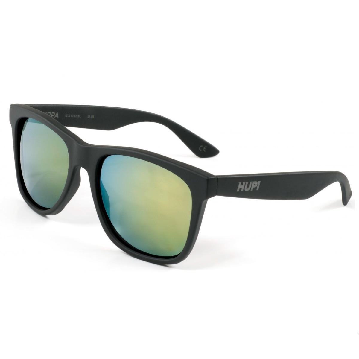 Oculos Hupi Preto Lente Verde Espelhado