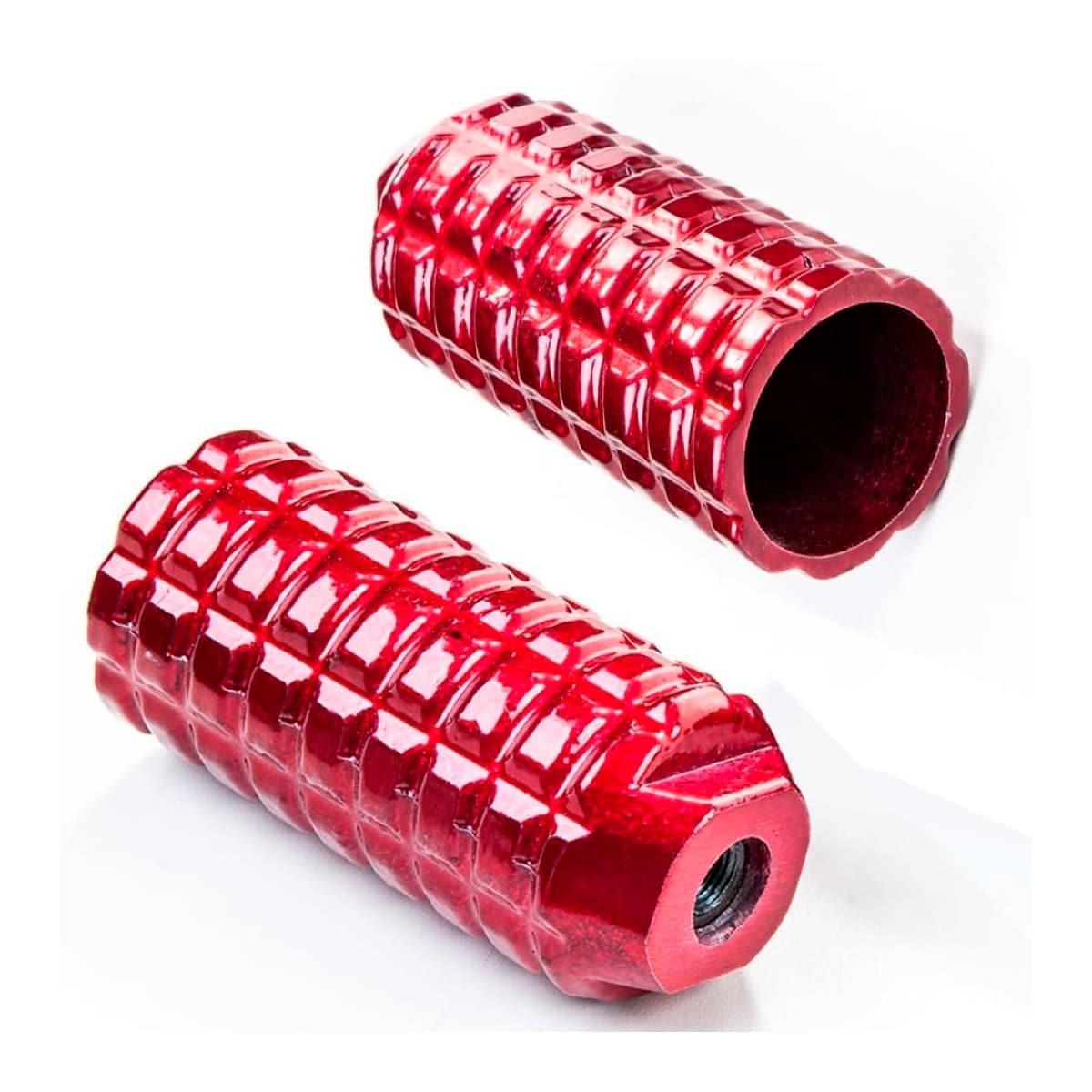 Pedaleira Trolhao Aluminio Vermelho