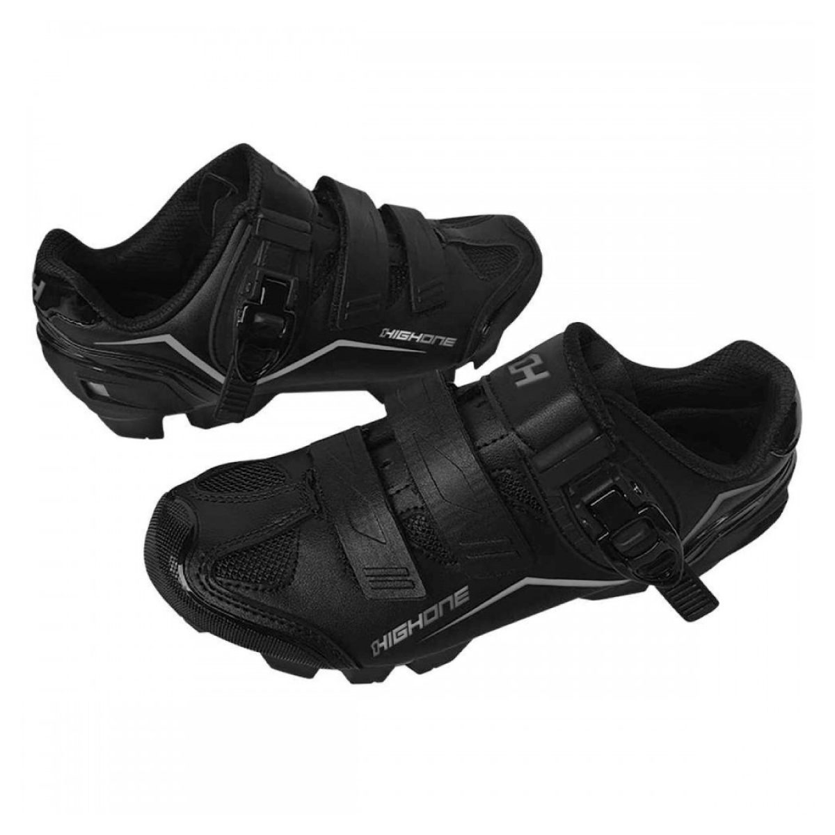 Sapatilha MTB High One Feet Com Trava Preto e Cinza