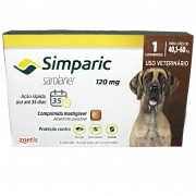 Anti Carrapaticida e Anti Sarnas Simparic Zoetis Cães 40,1kg a 60kg