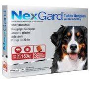Anti pulgas e Anti carrapatos Nexgard 25,1 a 50kg Cães com 3 comprimidos