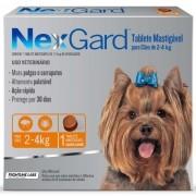 Anti Pulgas e Anti Carrapatos Nexgard Cães 2 a 4kg