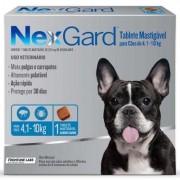 Anti Pulgas e Anti Carrapatos Nexgard Cães 4,1 a 10kg (28,3mg)