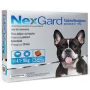 Anti Pulgas e Anti Carrapatos Nexgard Cães 4,1 a 10kg (28,3mg) com 3 comprimidos