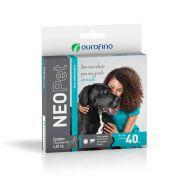 Anti pulgas e carrapatos Neopet Ourofino cães acima de 40kg