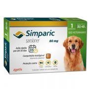 ASSINATURA MENSAL -  Anti Carrapaticida e Anti Sarnas Simparic Zoetis Cães 20,1kg a 40kg