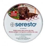 Coleira Anti pulgas e carrapatos e anti leishimaniose  Seresto acima de 8kg