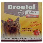 Drontal plus sabor carne 10kg Caixa com 2 comprimidos