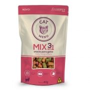 Mix  nuguets 3 em 1 snacks para gatos 40 gramas