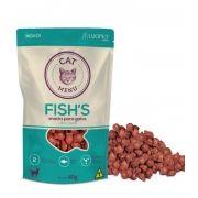 Promoção Nuguets para gatos Luopet Fish´s  snacks sabor peixe 40 gramas