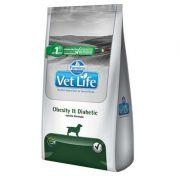 Ração Farmina Vet Life Obesity e Diabetic Canine Mini Breeds 2kg
