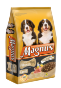 Ração Magnus Premium cães filhotes sabor carne