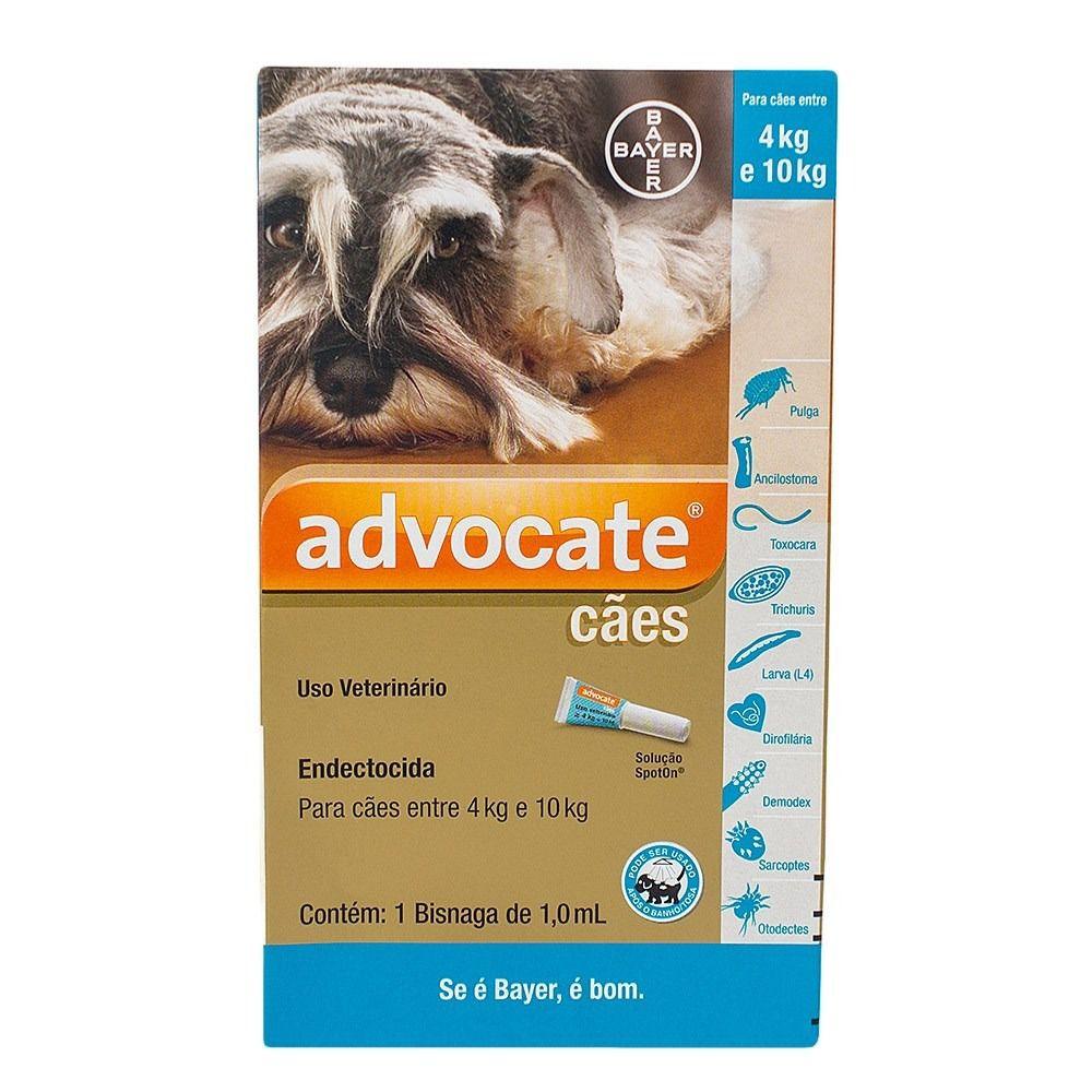Advocate Cães 4 a 10kg 1 ml