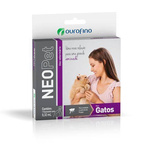 Anti pulgas e Neopet Ourofino gatos 0,32ml