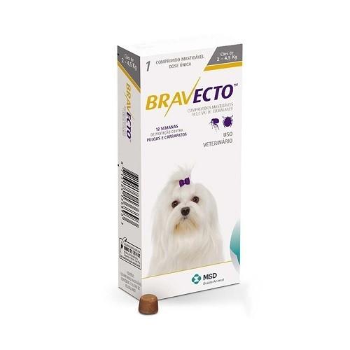 Bravecto 112,5mg - Para cães de 2 a 4,5 Kg
