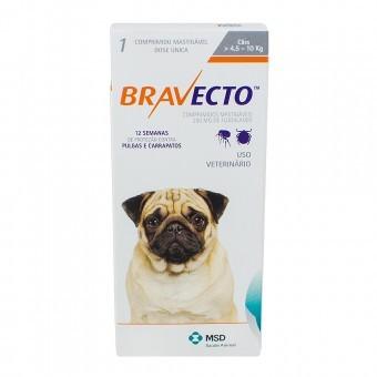 Bravecto 250 mg - Para cães de 4,5 a 10 Kg