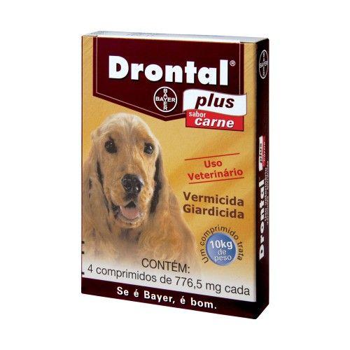 Drontal plus carne 10 kg Caixa com 4 comprimidos