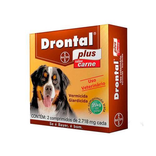 Drontal Plus sabor carne para cães com 35 kg