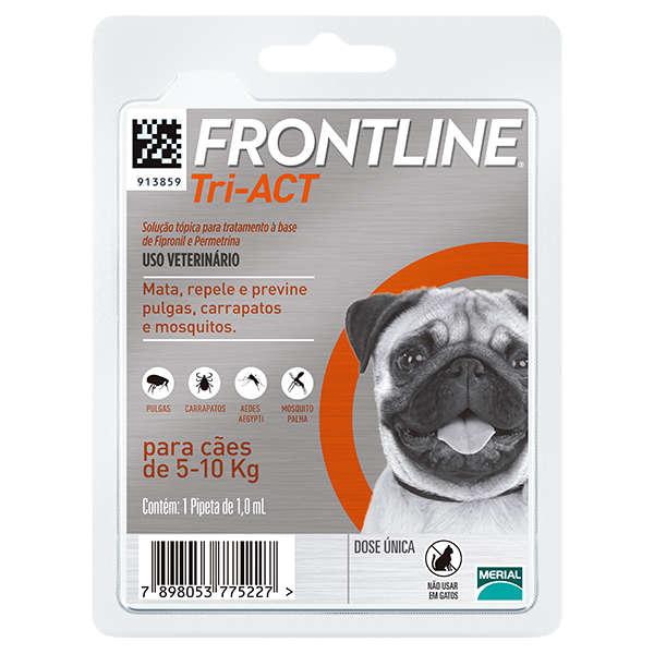Frontline Tri-Act - Anti carrapatos, Anti pulgas e repelente para cães
