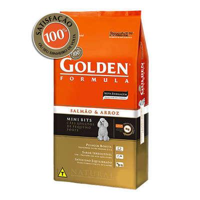 Golden Formula Cães adultos salmão e arroz minibits