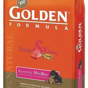 Golden Formula Cães Filhotes Minibits frango e arroz