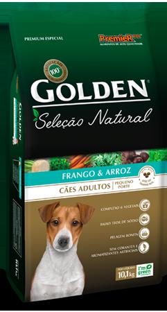Golden Seleção Natural Cães Adultos Frango e Arroz Pequeno Porte ( Minibits)