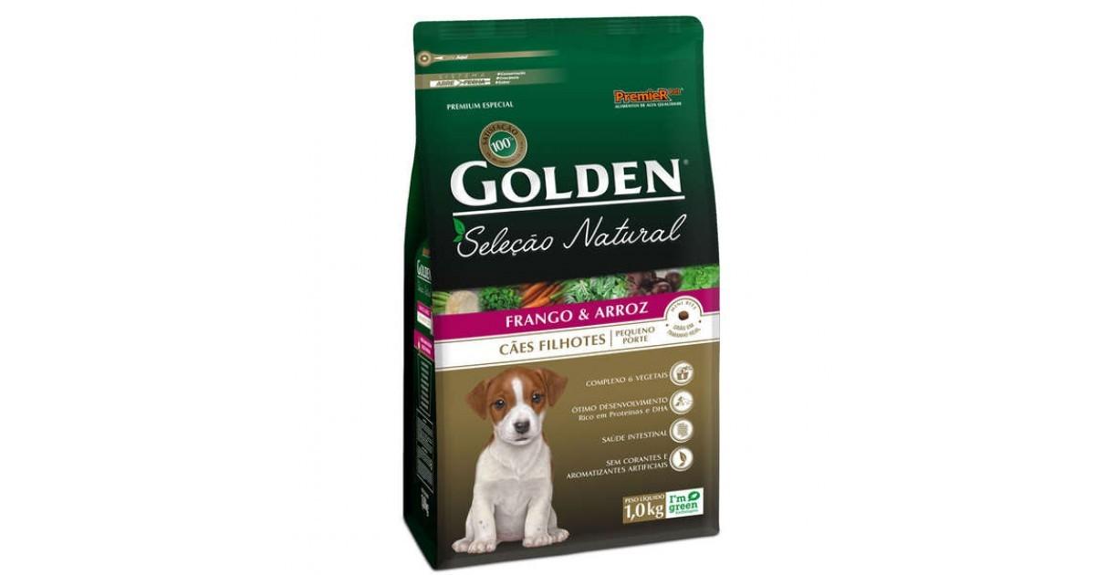 Golden Seleção Natural Cães Filhotes Frango e Arroz  Raças Pequenas