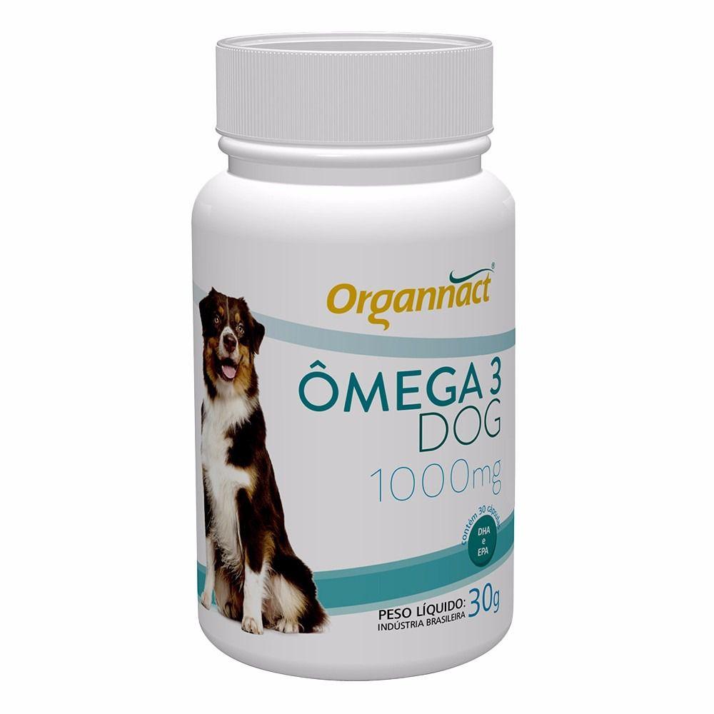 Organact Ômegas 3 DOG 1000mg - 30 comprimidos