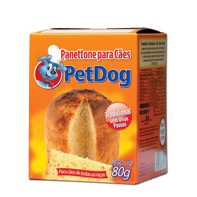 Panetone para cachorro 80 gramas