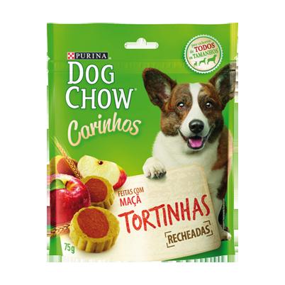 Petisco Dog Chow Carinhos sabor maça Tortinhas Recheadas 75 gramas